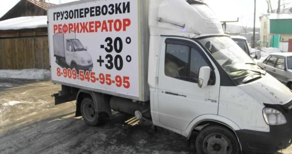 Использование баннера для брендирования жесткой будки грузовика Газель