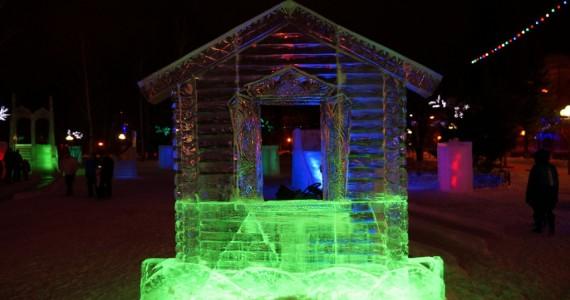 Ледяной домик-фоторамка